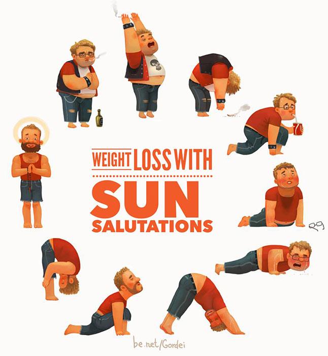 Surya Namaskar (Sun Salutation)12 poses to leaner you_0